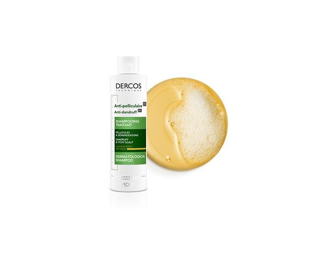 Šampón proti lupinám na suché vlasy