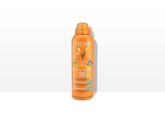 Jemný sprej pre deti odpudzujúci piesok SPF 50+