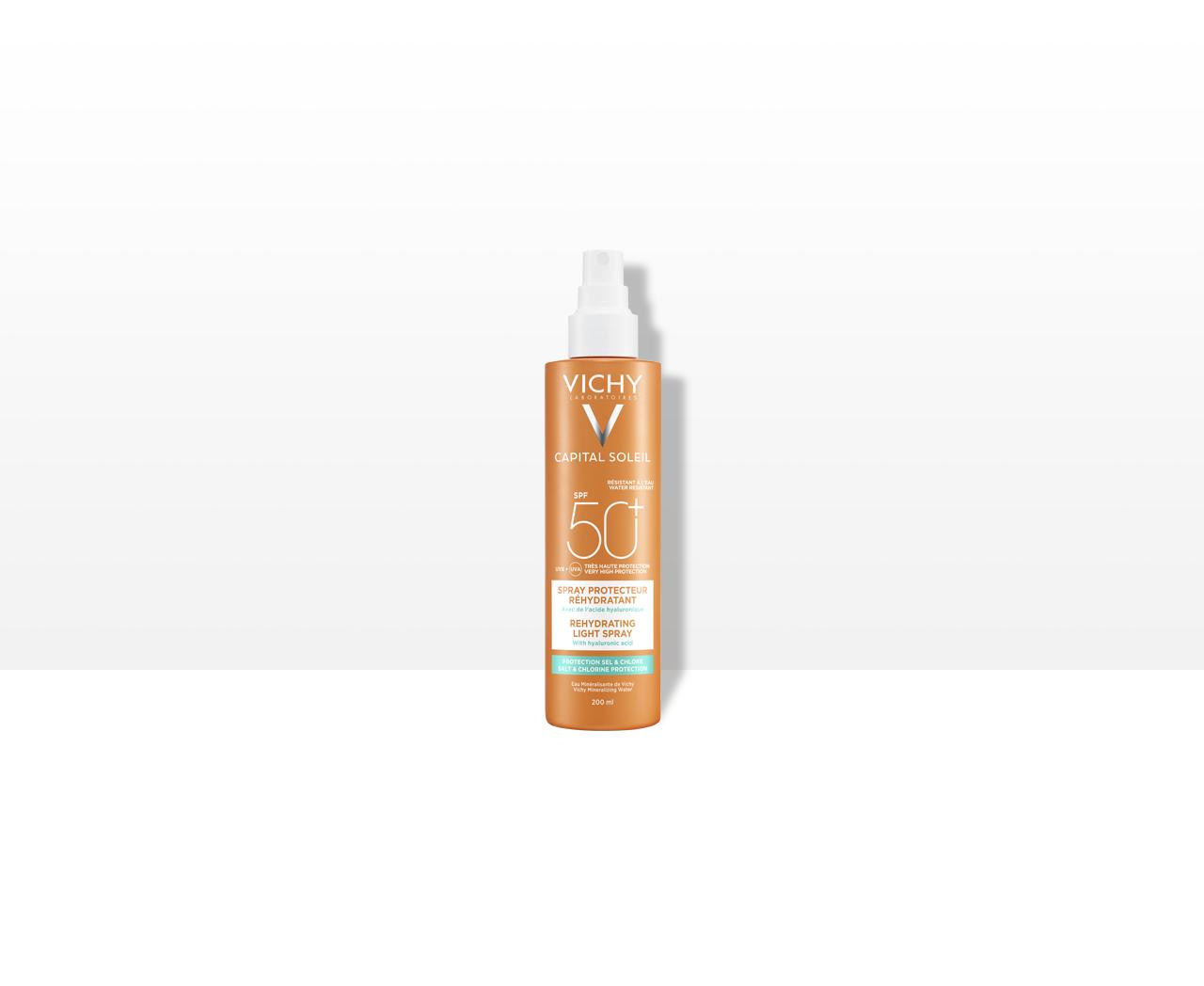 Multiprotekčný sprej proti dehydratácii pokožky. Ochrana pred soľou a chlórom SPF 50+ Veľmi vysoká ochrana - obrázok výrobku